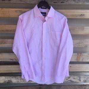 Nordstrom Men Shop Linen Cotton Shirt Size 15 1/2